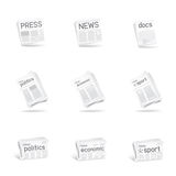 Press icon set Stock Images