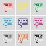 Press icon stock vector illustration flat design Royalty Free Stock Photo