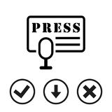 Press icon stock vector illustration flat design Stock Image
