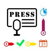 Press icon stock vector illustration flat design Royalty Free Stock Images