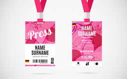 Press id card set vector design illustration Stock Photography
