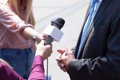 Press interview Royalty Free Stock Photos