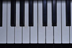 Press the keys of the piano Stock Photos