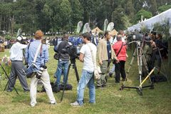 Press at the Kwita Izina Ceremony Stock Images