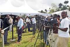 Press at the Kwita Izina Ceremony Stock Photography