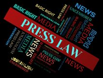 PRESS LAW - word cloud - NEWS - NEWS - word cloud - NEWS - word cloud - MEDIA - MEDIA - word cloud - MEDIA - word cloud - JOURNALI. Words about freedom of press Royalty Free Stock Images
