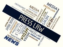 PRESS LAW - word cloud - PRESS LAW - word cloud - NEWS - NEWS - word cloud - NEWS - word cloud - MEDIA - MEDIA - word cloud - MEDI. Words about freedom of press Royalty Free Stock Image