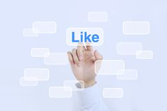 Press like button Royalty Free Stock Image