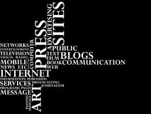 Press and Mass media. Text Royalty Free Stock Image