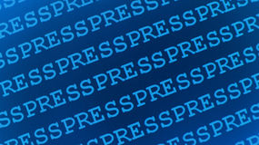 Press and Media. Blue abstract background Stock Photos