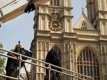 Press near Westminster Abbey royalty free stock photos