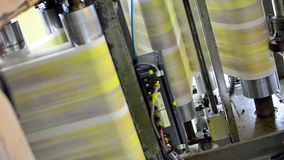 Press of newspapers in print house stock footage