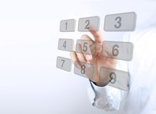 Press number keys Royalty Free Stock Image