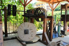 Press. Old press for olive oil Royalty Free Stock Images
