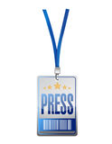 Press pass tag illustration design Royalty Free Stock Photography