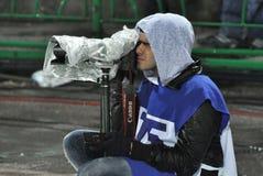 Press photographer working Stock Photo