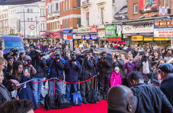 Press Photographers in London Stock Photography