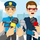 Press Police Arresting Stock Photo
