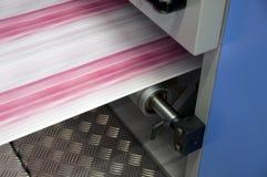 Press printing offset, detail royalty free stock photo