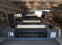 Press printing - Offset machine Royalty Free Stock Images
