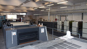 Press printing - Offset machine Stock Images