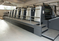 Press printing - Offset machine royalty free stock images