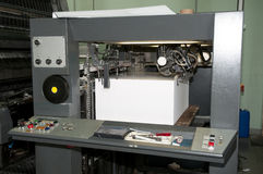 Press printing - Offset machine Royalty Free Stock Image