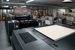 Press printing - Offset machine Stock Photo