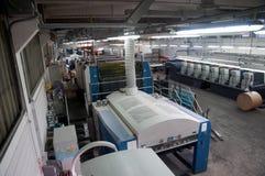 Press printing - Offset machine Royalty Free Stock Photo