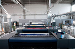 Press printing - Offset machine. Offset press is a printing machine designed to produce fine quality reproductions. Offset printing is a widely used printing royalty free stock images