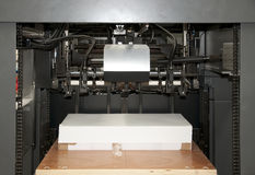 Press printing (printshop) - Detail. Offset press is a printing machine designed to produce fine quality reproductions. Offset printing is a widely used printing royalty free stock images