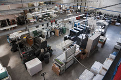 Press printing (printshop) - Offset. Offset press is a printing machine designed to produce fine quality reproductions. Offset printing is a widely used printing royalty free stock image
