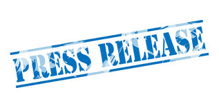 Press release blue stamp Stock Photography