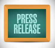 Press release board sign illustration Royalty Free Stock Photos