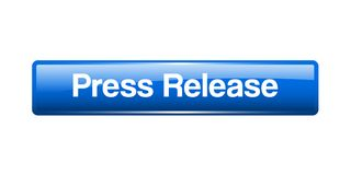 Press release button. Press release web button - computer generated illustration on isolated white background vector illustration