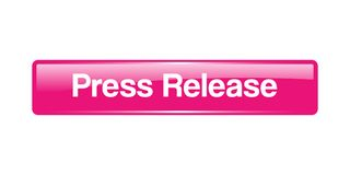 Press release button. Press release web button - computer generated illustration on isolated white background royalty free illustration