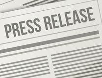 Press release closeup illustration design graphic Royalty Free Stock Photo
