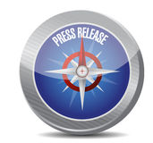 Press release compass illustration Royalty Free Stock Images