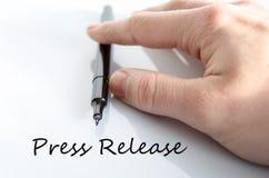 Press release concept Royalty Free Stock Photos
