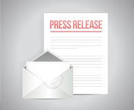 press release mail message illustration design Royalty Free Stock Images