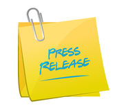Press release memo post illustration Royalty Free Stock Photos