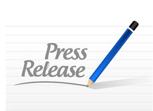 press release message sign illustration Stock Photography