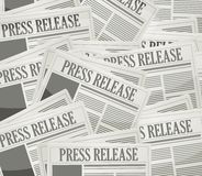 Press release newspaper illustration design Stock Photo