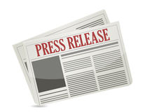 Press release newspaper illustration design Royalty Free Stock Photos
