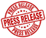 Press release red grunge round vintage stamp royalty free illustration