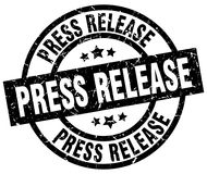 Press release round grunge  stamp Royalty Free Stock Image