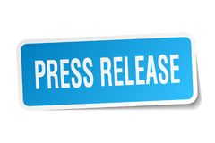 Press release sticker. Press release square sticker isolated on white background stock illustration