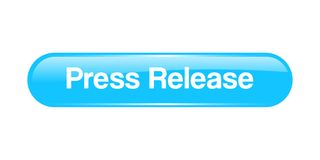 Press release button. Press release web button - computer generated illustration on isolated white background stock illustration