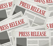 press releases newsletters background Stock Photo