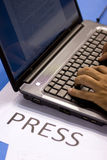 Press Report Royalty Free Stock Photography
